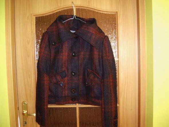 Kurteczka płaszczyk w kratkę L 40 XL 42 piekny