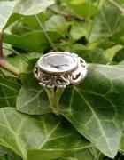 Niezwykły srebrny z akwamarynem