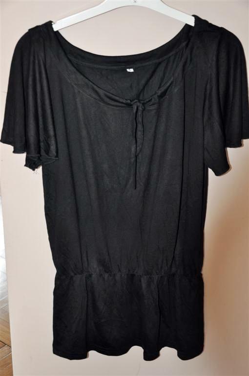 czarna tunika bawełna XL