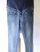 Spodnie H&M Mama L 40 Dzinsowe Rurki Jeans Ciążowe...