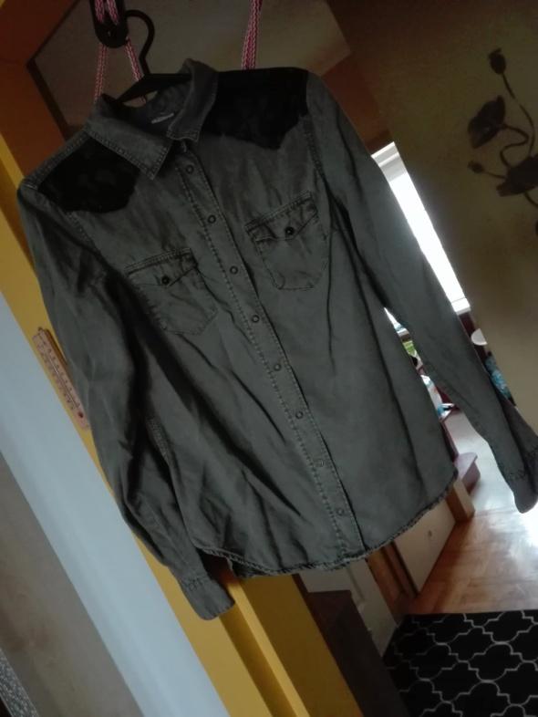 Koszule Koszula khaki koronka