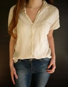 Kremowa koszula na krótki rękaw Dunnes Stores L 40