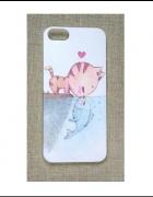 Nowe etui case iPhone 4 4S obudowa print wzór kot...