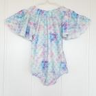 Nowy strój kąpielowy dziecięcy dziewczęczy dla dziewczynki 3 4 lata kolorowy kokarda