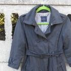 Wiosenny Płaszcz 34 XS S idealny do sukienki szary
