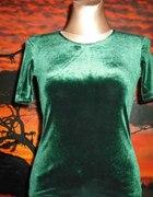 zielona bluzka z aksamitu