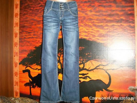 nowe jeansy granatowe