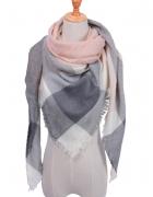 Nowa chusta ciepły szal szale z kaszmirem duży krata pastelowy ...
