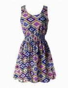 Śliczna NOWA sukienka mgiełka na lato XL 42 zwiewna wzory...