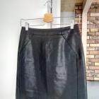 Spódniczka mini H&M skóra czarna Premium Quality