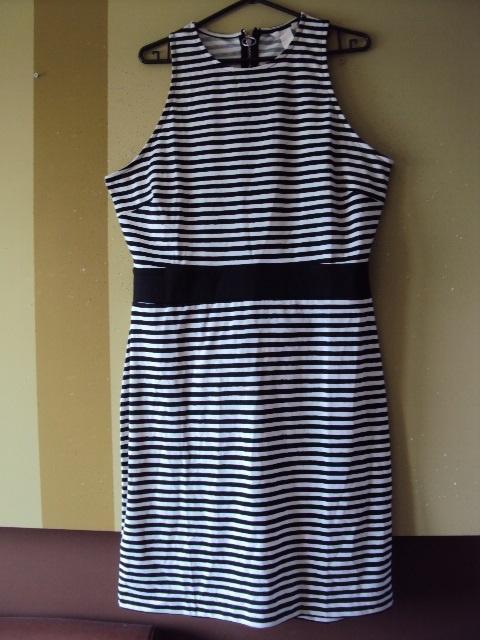 Suknie i sukienki Oryginalna sukienka w paski HiM