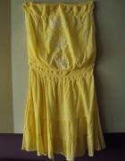 letnia sukienka bez ramiączek...