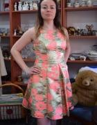 Sukienka sylwestrowa okazja złoto...