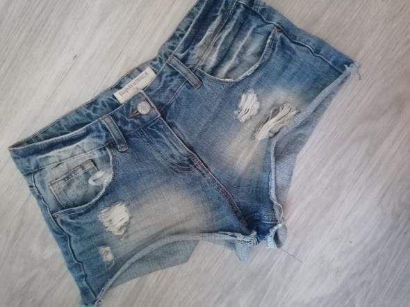Spodenki Jeansowe szorty krótkie spodenki Papaya wyższy stan przetarcia
