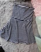 Mini sukienka rozkloszowana pasiak SinSay S...