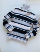Golf Sweter w paski S 36