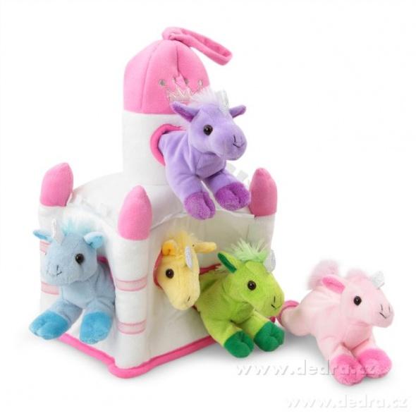 Zabawki Zamek 5 kolorowych jednorożców