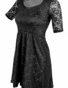 LACY koronkowa sukienka z podszewką turkusowa czarna