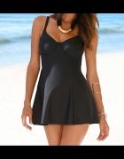 38 M Strój kąpielowy sukienka kąpielowa czarna