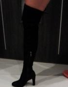 NOWE czarne kozaczki zamszowe za kolano rozmiar 37...
