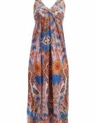 sukienka LACEY długa motyw indyjski