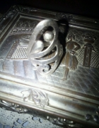 Duży srebro esy floresy