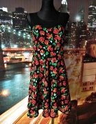 h&m sukienka kwiaty róże blogerska hit 38 M