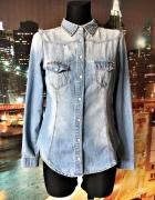 denim co koszula jeansowa dżins kolce ćwieki 36 S