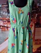 atmosphere sukienka mgiełka kwiaty floral 40 L...