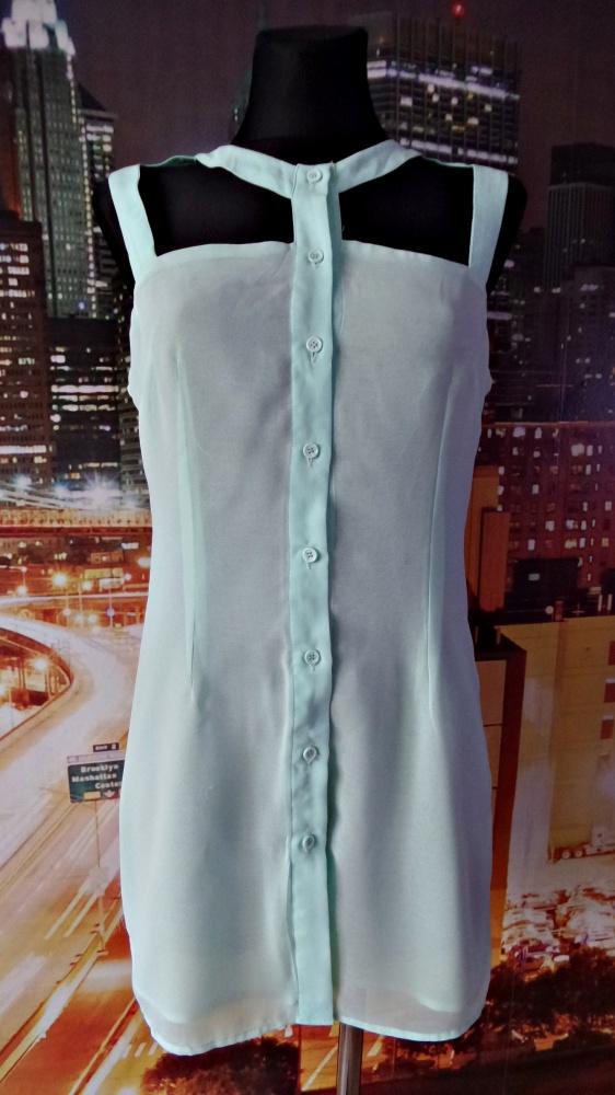 Bluzki glamorous bluzka miętowa odkryte plecy 38 M