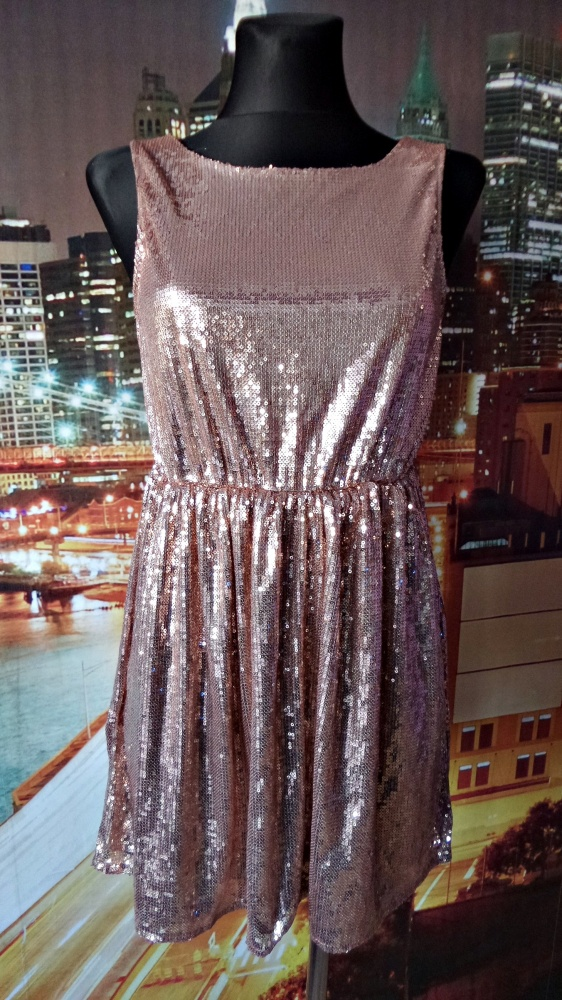glamorous sukienka cekiny sylwester nowa 36 XS