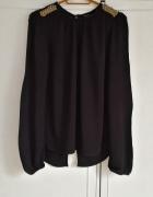 Nowa bluzka tunika Zara L 40 czarna czerń zdobieni