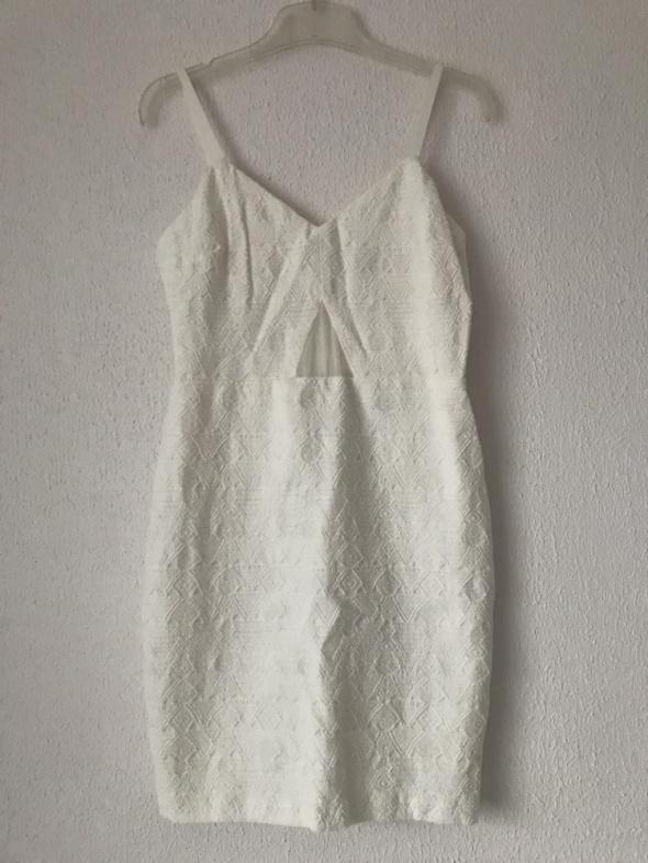 mini krótka biała sukienka Zara S 36...