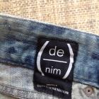 Rurki marmurki z dziurami 22 wąskie unikatowe jeansowe dżinsowe granatowe