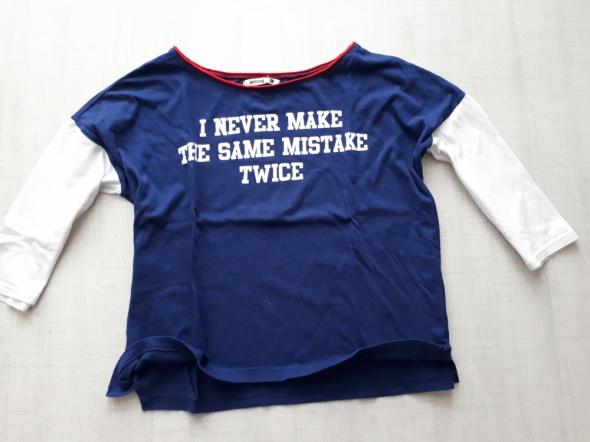SINSAY Świetna bluzeczka z nadrukiem R L