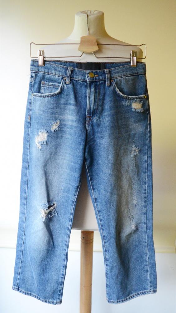 Spodenki Spodenki Rybaczki Jeans Dziury Never Denim XS 34 Przetarcia