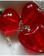 Czerwone serca szkło weneckie uroczy zestaw...