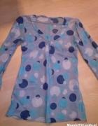 tunika bluzka zwiewna grochy