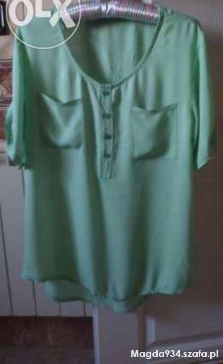 Bluzki koszula bluzka mgiełka miętowa uniwersalna