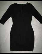 ZARA sexi czarna sukienka z dużym dekoldem roz 38...