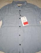 ZARA niebieska koszula chłopięca roz 128...