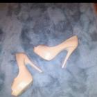 Szpilki wysokie sandały na obcasie 37 bez palców