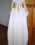 Sukienka biała krótka na imprezę sexowna M