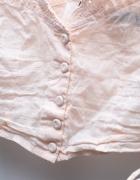 Bluzeczka bielizniana bralet crop top retro vintage różowy...
