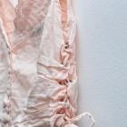 Bluzeczka bielizniana bralet crop top retro vintage różowy