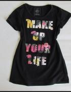 Carry czarna bluzka Make up your life rozmiar M...