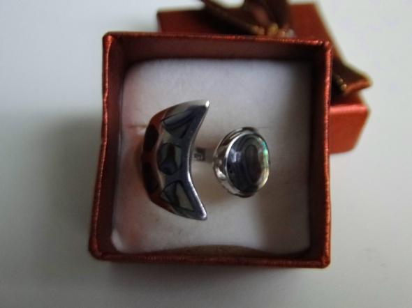 Niepowtarzalny pierścionek srebro z muszlą paua regulowany