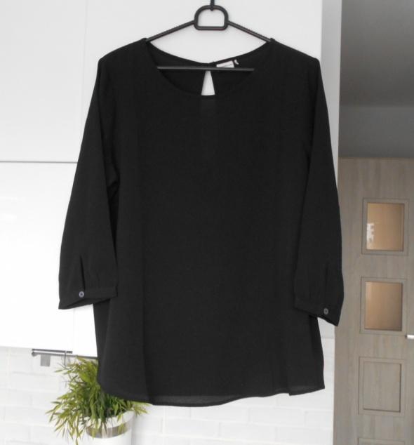 Jacqueline de Young czarna bluzka klasyczna minimalizm...
