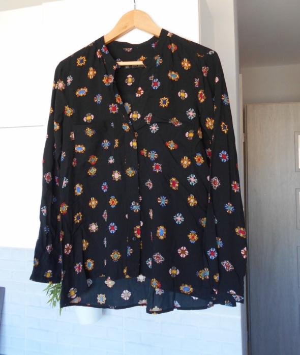 Zara nowa bluzka czarna print kryształki...