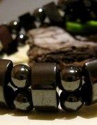 Hematyt z metalicznym połyskiem bransoletka...